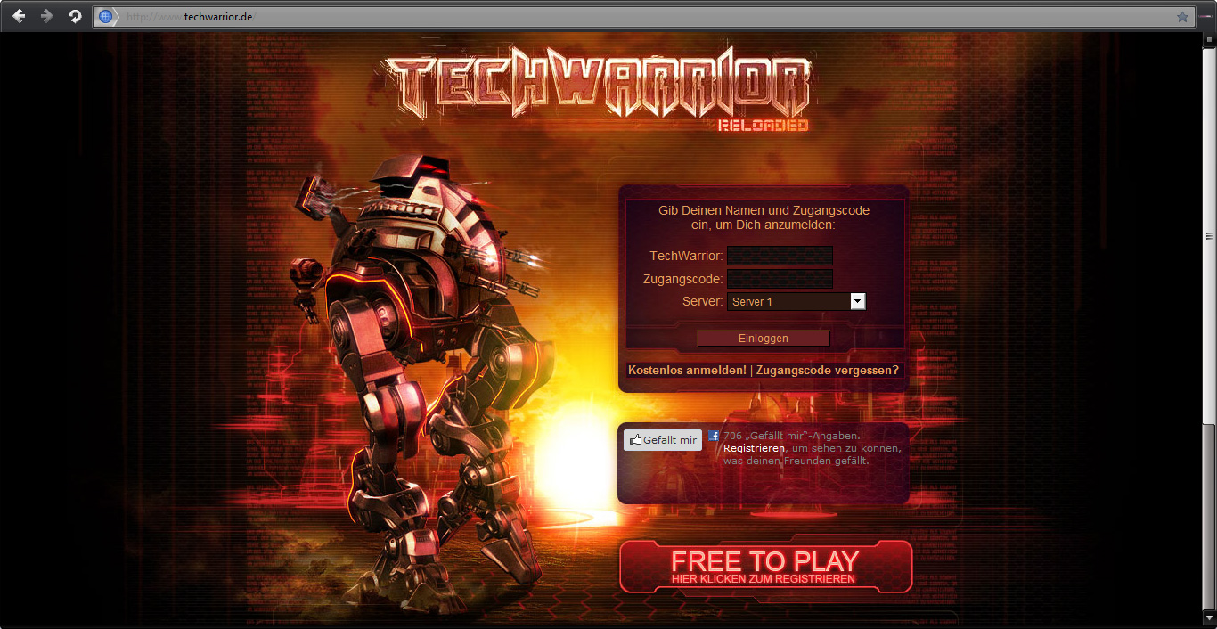 Screenshot Browsergame TechWarrior